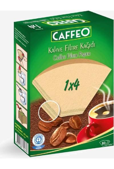 Caffeo Kahve Filtre Kağıdı 1 × 4 ( Doğal Kağıt ) 80'li