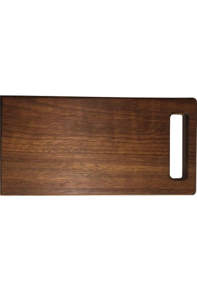 Molen Diktörtgen Et ve Ekmek Kesme Tahtası 18 x 35 x 2 cm Irokko Ağacı