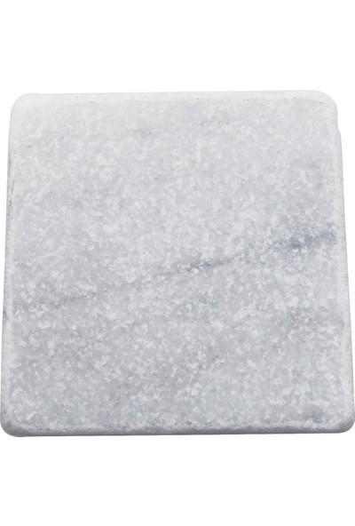 Bubigo Mermer Bardak Altlığı | Muğla Beyaz | 4'lü