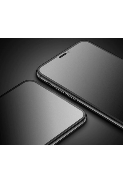 mTnCover iPhone 8 Parmak Izi Bırakmayan Ön Kamera Açık Full 5d Ceramik Esnek Ekran Koruyucu Siyah Renk