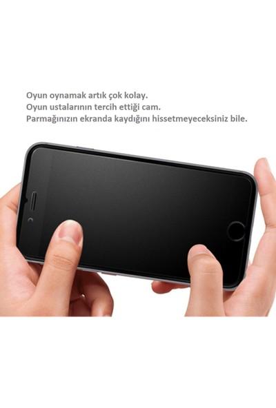 mTnCover iPhone 6s Parmak Izi Bırakmayan Ön Kamera Açık Full 5d Ceramik Esnek Ekran Koruyucu Siyah Renk