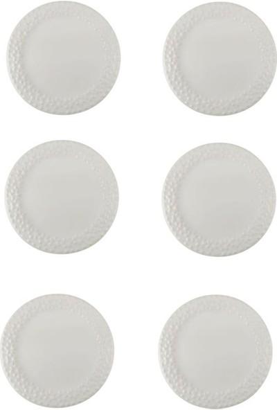 Şura Mutfak Düz Beyaz 6 'lı Pasta Tabağı 19CM