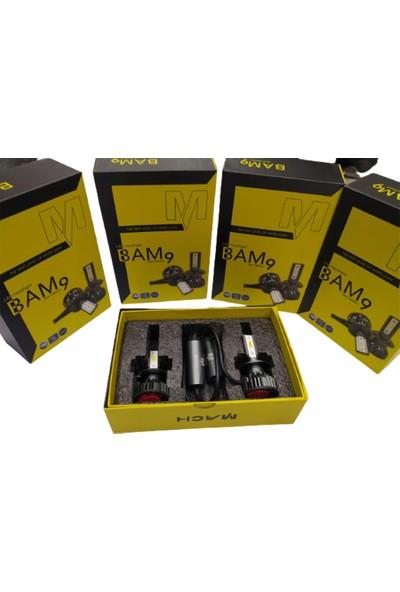 Mach Bam9 10800 Lümen 9006 LED Xenon Far Slim Balans Şimşek Etkili