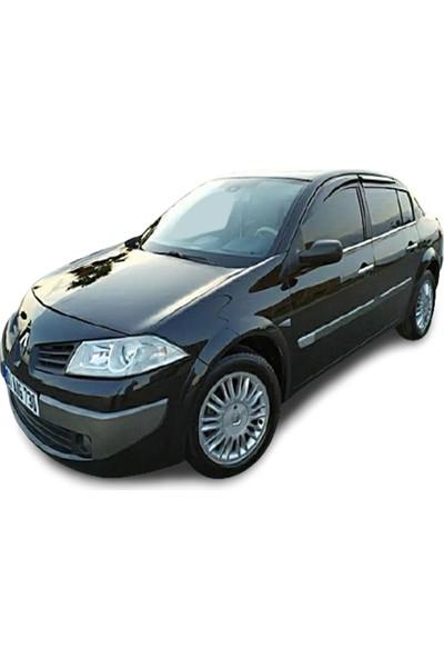 Blue Renault Megane 2 Sedan Krom Cam Çıtası 2004-2010 Çelik 4 Parça