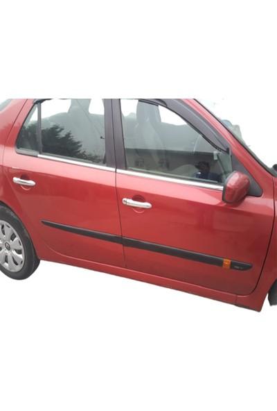 Blue Renault Laguna 2 Krom Cam Çıtası 2001-2007 Çelik 4 Parça