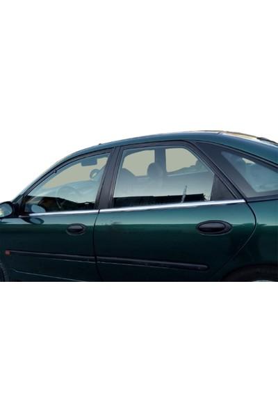 Blue Renault Laguna 1 Krom Cam Çıtası 1995-2000 Çelik 4 Parça