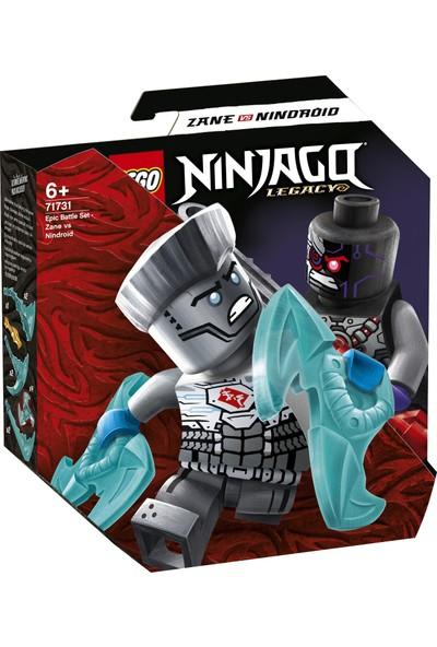 LEGO® NINJAGO® Efsanevi Savaş Seti – Zane ile Nindroid 71731 - Çocuklar için Ninja Oyuncak Yapım Seti (56 Parça)