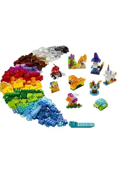 LEGO® Classic Yaratıcı Şeffaf Yapım Parçaları 11013 - Çocuklar için Yaratıcı Oyuncak Yapım Seti (500 Parça)