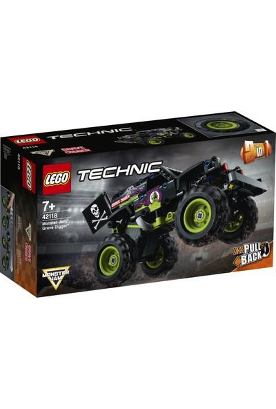 LEGO® Technic Monster Jam® Grave Digger® 42118 - Çocuklar için Canavar Kamyon Oyuncak Yapım Seti (212 Parça)
