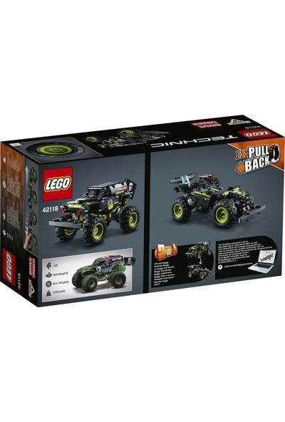 LEGO® Technic Monster Jam® Grave Digger® 42118 Canavar Kamyon Oyuncaklarını Seven Erkek ve Kız Çocuklar için Model Yapım Seti (212 Parça)
