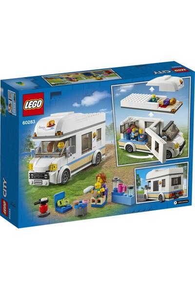 LEGO® City Tatilci Karavanı 60283 Yapım Seti; Çocuklar için Harika bir Tatil Oyuncağı (190 Parça)