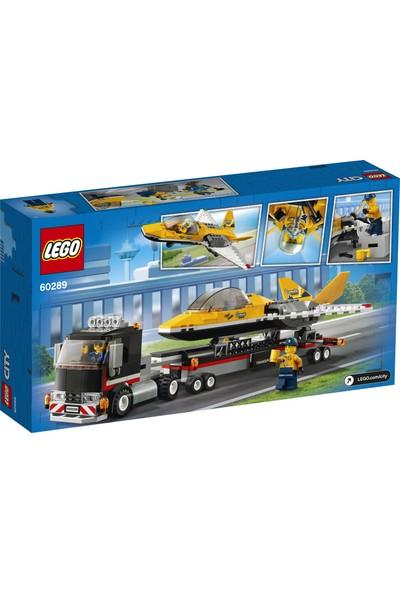 LEGO® City Gösteri Jeti Taşıma Aracı 60289- Çocuklar için Oyuncak Yapım Seti(281 Parça)