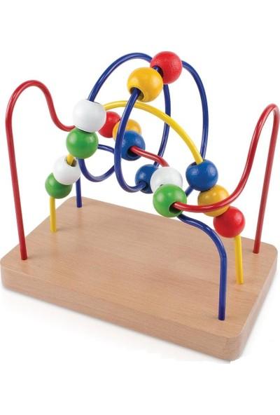 Ayas Eğitici Oyuncak Eğitici Ahşap Helezon Koordinasyon Oyunu - Orta Boy