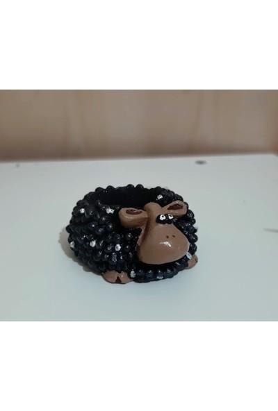 Dodemert Home • siyah Koyun-Kuzu Tasarım Saksı & Mumluk Dekoratif