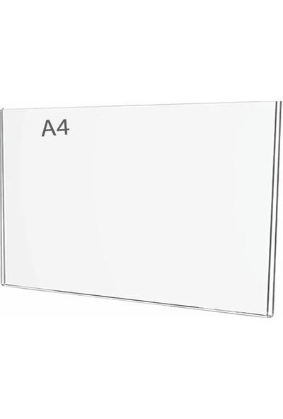 Display Malzeme Dm A4 U Tipi Yatay Masa Üstü Şefaf Pleksi Föylük
