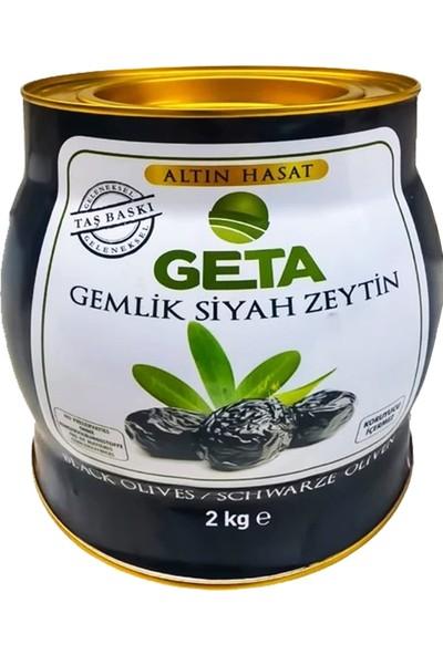 Geta Gemlik Siyah Zeytin Altın Hasat 2 Kg. Premium L 231-260 Kalibre 1.sınıf Zeytin
