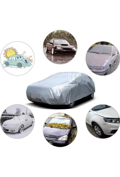 Autozel Renault Megane 2 Sedan Oto Branda Lüx Kalite Araba Brandası- Gri