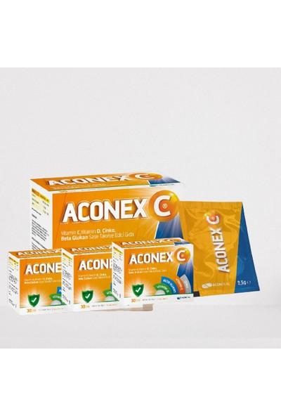 Aconex C Beta Glucan + Cinko + C Vitamini + D Vitamini 30 Şase x 3