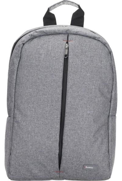 """Burkley Austin 15.6"""" Notebook Laptop Sırt Çantası Gri"""