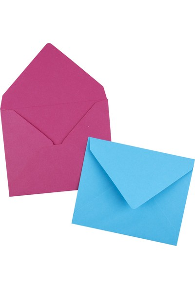 Nuna Renkli Mektup Zarfı 9 x 7 cm 100'lü