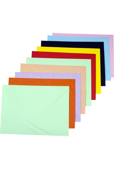 Nuna Renkli Mektup Zarfı 18 x 13 cm 100'lü
