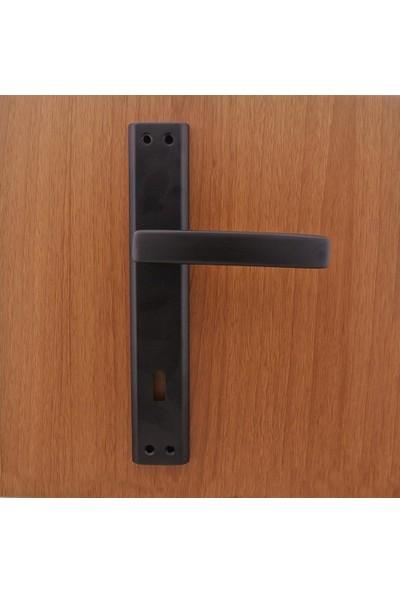 Azm Hırdavat Yelken Mat Siyah Aynalı Kapı Kolu Wc (Sol )