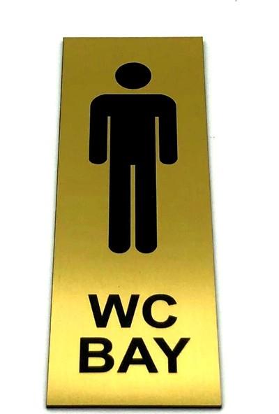 Se-Dizayn Wc Tuvalet Tabelası Bay Kapı Yönlendirme Levhası 5 cm x 15 cm