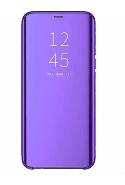 Magazabu Xiaomi Mi A2 Lite Kapaklı Kılıf Clear View Aynalı Flip Cover Wallet Kılıf Mavi
