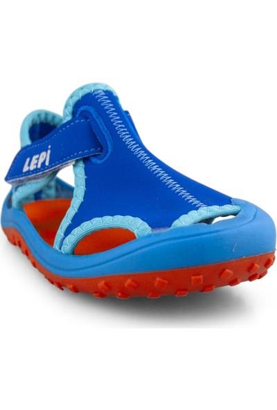 Cici Bebe Aqua Kumaş Erkek Çocuk Ev Ayakkabısı 104300E-AQ