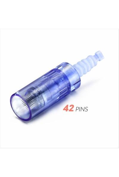 Ekai Dermapen Iğnesi - Mavi 42 Iğneli - 10 Adet Dr.pen Ultıma A6, A1 Cihazlara Uyumlu
