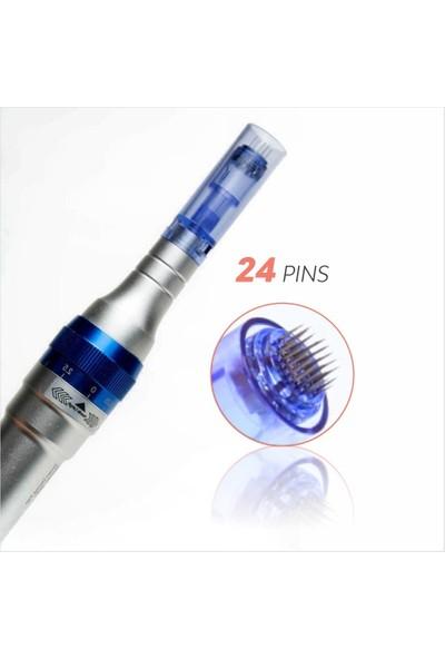 Ekai Dermapen Iğnesi - Mavi 24 Iğneli - 25 Adet Dr.pen Ultıma A6, A1 Cihazlara Uyumlu