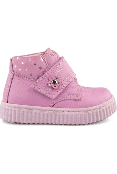 Cici Bebe Pembe Deri Kız Çocuk Bot 1001085K-PMB-DR