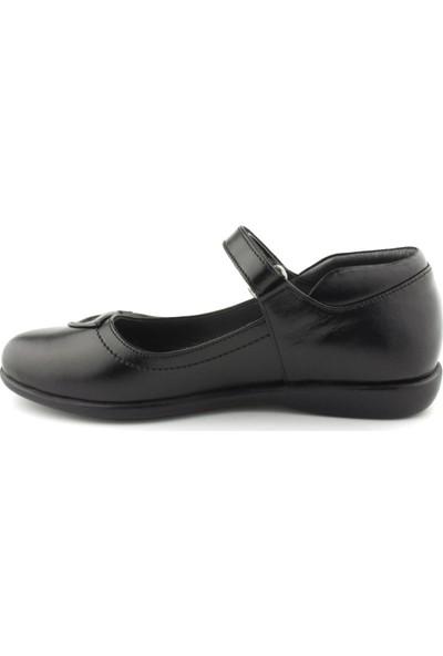 Cici Bebe Siyah Deri Kız Çocuk Ayakkabı 100104K-SYH-DR