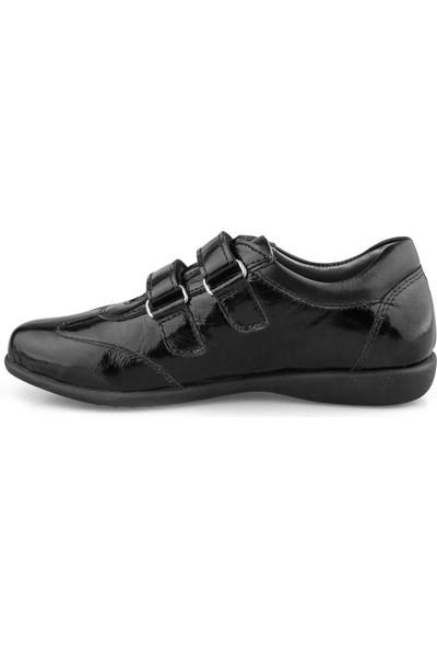 Cici Bebe Siyah Rugan Deri Kız Çocuk Ayakkabı 100082K-SYH-RG-DR