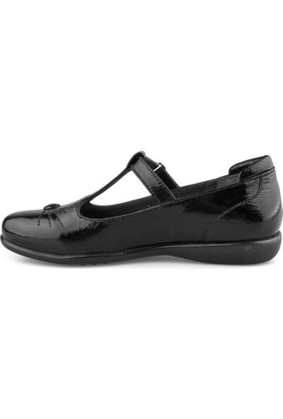Cici Bebe Siyah Rugan Deri Kız Çocuk Ayakkabı 100133K-SYH-RG-DR