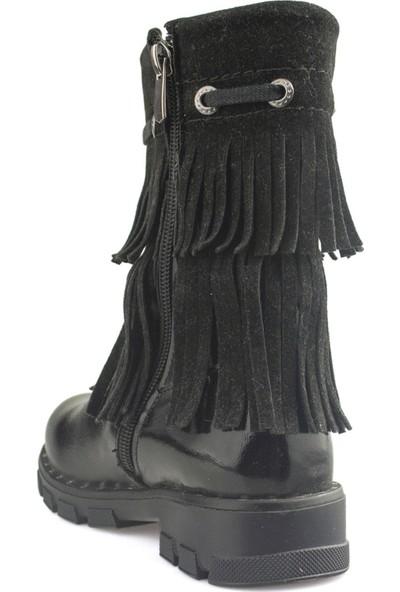 Cici Bebe Siyah Rugan Deri Kız Çocuk Bot 1002144K-SYH-RG-DR