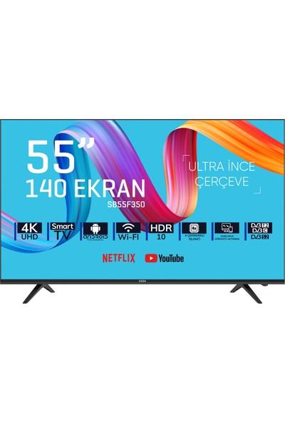 """Saba SB55F350 55"""" 140 Ekran Uydu Alıcılı 4K Smart LED Tv"""