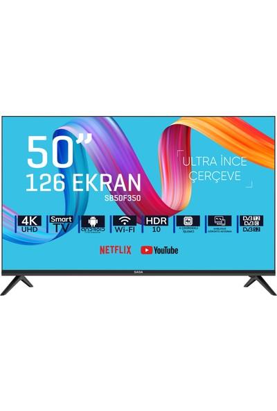 """Saba SB50F350 50"""" 126 Ekran Uydu Alıcılı 4K Smart LED Tv"""