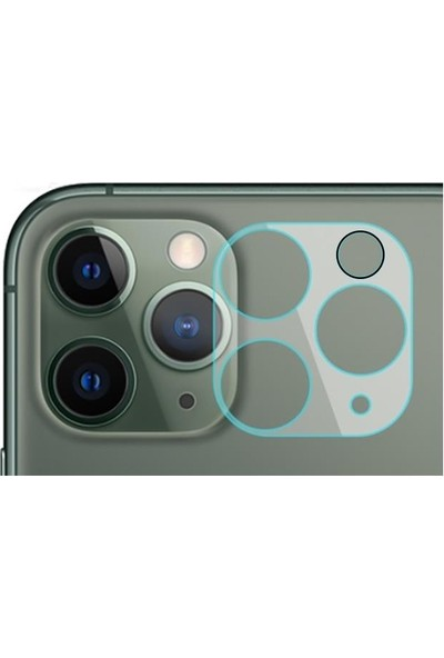 Vendas Apple iPhone 12 Pro Max Vds 3D Tam Kaplama Kamera Lens Koruyucu Şeffaf