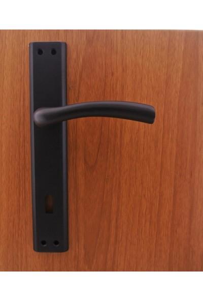Azm Hırdavat Marmara Mat Siyah Aynalı Kapı Kolu Yale