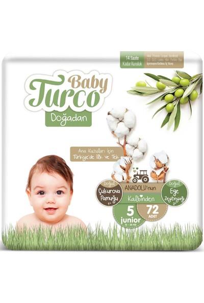 Baby Turco Doğadan 5 Numara Junıor 12-25 kg 72'li