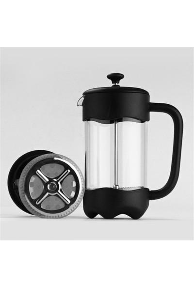 Bambum Boroslikat Cam French Press Bitki Çayı&filtre Kahve Demliği 600 ml