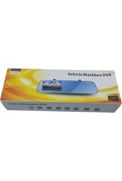 Techlink Araç Içi 1080P Hd Aynalık Ön/arka Gece Görüşlü Dokunmatik Ekran Kamera TE-102S