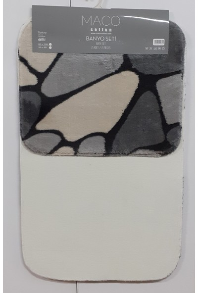 Maco Cotton Post Stone 2 Li Banyo Paspas Seti