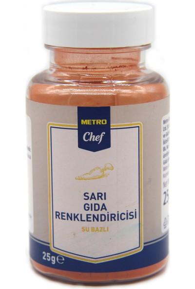 Metro Chef Su Bazlı Sarı Gıda Boyası 25 gr