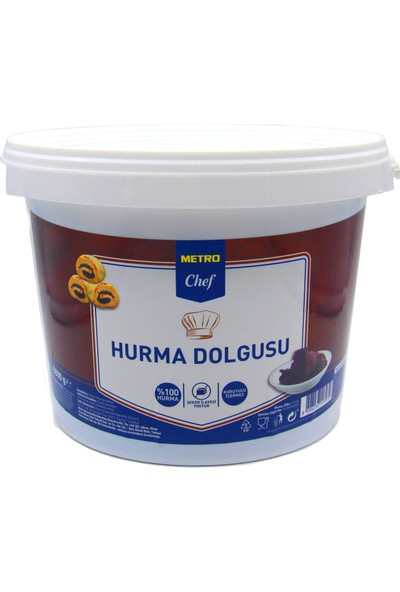 Metro Chef Hurma Dolgusu Püresi 5 kg