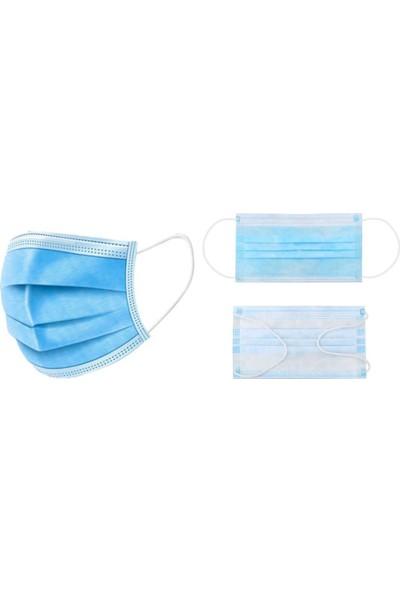 Pufai Tek Kullanımlık Full Ultrasonik Cerrahi Maske Yüksek Filtrasyon Sistemli 3 Katlı Burun Telli 250 Adet 10 Kutu
