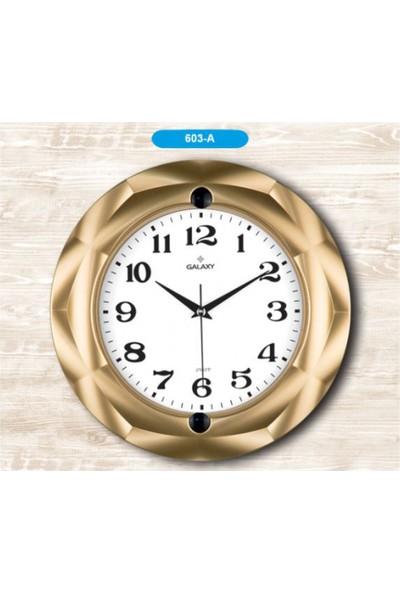 Pazar İstanbul Piev Galaxy Duvar Saati Altın Sarı