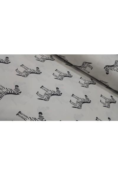 Bursa Kumaşçısı Zebra Desen Pamuklu Poplin Kumaş