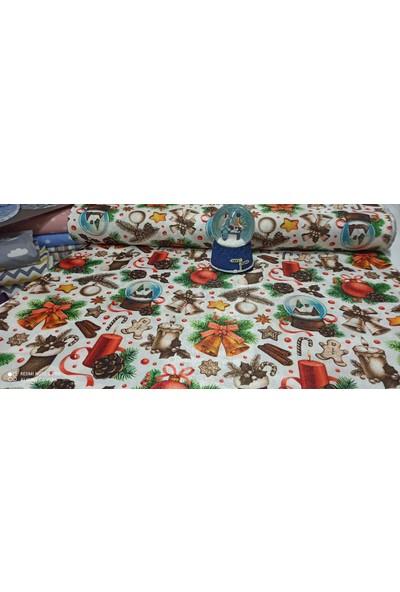 Bursa Kumaşçısı Yılbaşı Desenli Kumaş